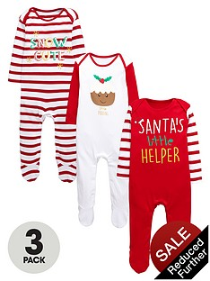 ladybird-baby-unisex-christmas-sleepsuitsnbsp3-pack