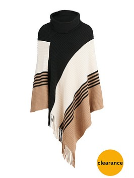wallis-colour-block-stripe-poncho