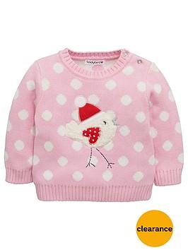 ladybird-baby-girls-robinnbspknitted-jumper