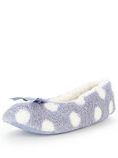 v-by-very-winnie-spot-print-ballerina-slipper-lilac