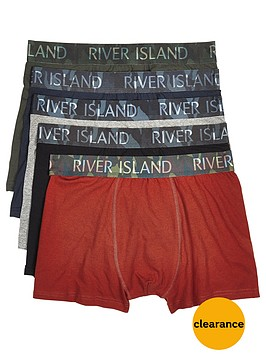 river-island-five-pack-camouflagenbspwaistband-trunks