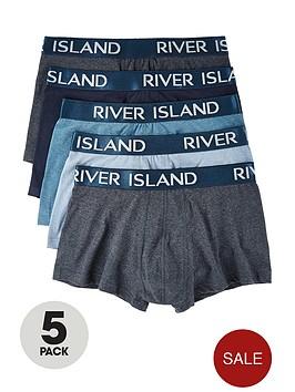 river-island-blue-trunksnbsp5-pack