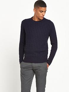 selected-homme-cable-crew-neck-jumper