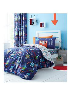 catherine-lansfield-robots-lined-curtains