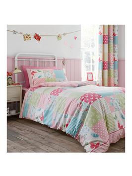 6670b6a28ea Catherine Lansfield Canterbury Patchwork Lined Curtains