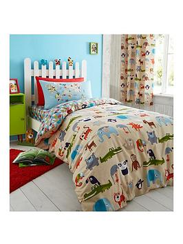 catherine-lansfield-animal-world-lined-curtains