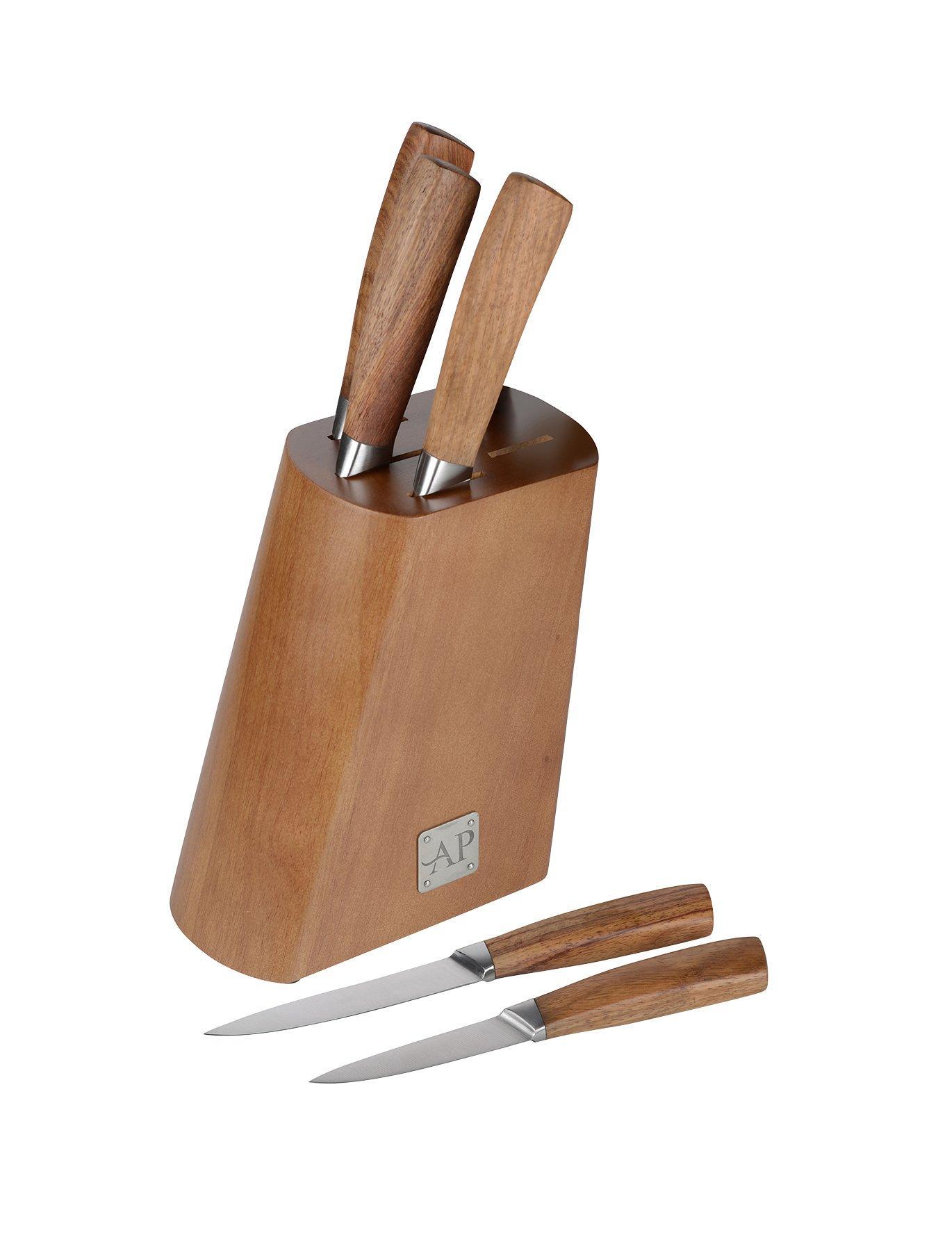 Arthur Price 5-Piece Knife Block Set (Wood)