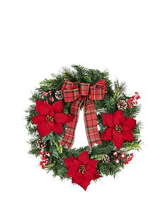 24-inch-red-berry-pine-cone-and-poinsettia-artificial-christmas-wreath