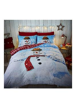 catherine-lansfield-snowman-double-duvet-cover-set