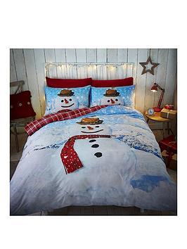 catherine-lansfield-snowman-double-duvet-cover-set