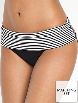 panache-anya-stripe-fold-bikini-briefs-blackwhite
