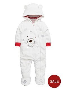 ladybird-baby-unisex-polar-bear-fleece-cuddle-suit