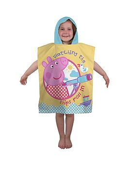 peppa-pig-nautical-poncho