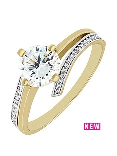 love-gold-9ct-yellow-gold-cubic-zirconia-crossover-solitaire-ring