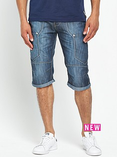 crosshatch-wing-denim-shorts