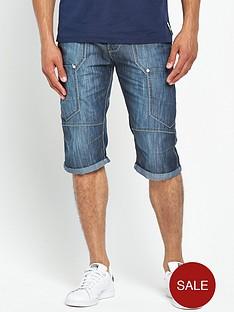 crosshatch-wing-denim-shorts