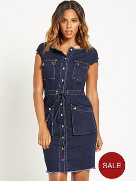 rochelle-humes-button-front-denim-dress