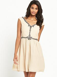 little-mistress-jewelled-skater-dress
