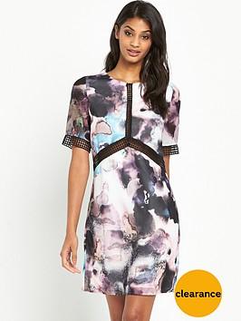 little-mistress-printed-short-sleeve-shift-dress