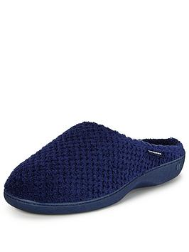 totes-isotoner-popcorn-mule-slipper-with-pillowstep-technology-navy