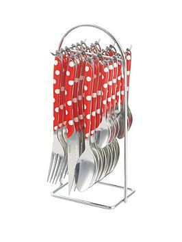 amefa-eclat-dotty-redwhite-24-piece-hanging-set