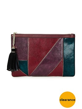 v-by-very-patchwork-clutch-bag