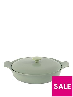 berghoff-ron-28cm-cast-iron-sauteuse-with-lid-in-sage