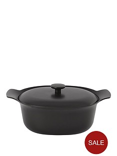 berghoff-ron-28cm-cast-iron-casserole-dish-with-lid-in-black-pepper