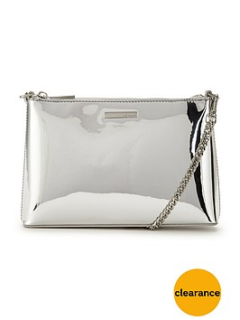 ted-baker-metallic-shoulder-chain-clutch-silver