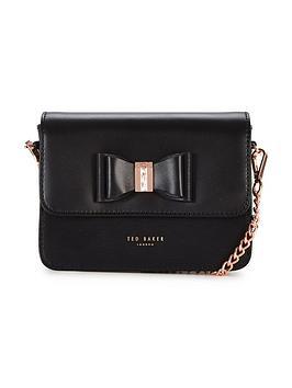 ted-baker-mini-bow-detail-shoulder-bag-black