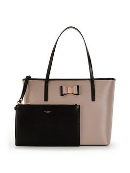 ted-baker-large-bow-detail-shopper-with-inner-purse-pouch-mink