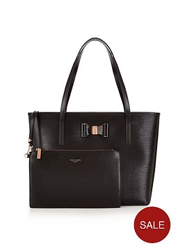 ted-baker-large-bow-detail-shopper-with-inner-purse-pouch-black