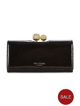 ted-baker-patent-glitter-matinee-purse-black