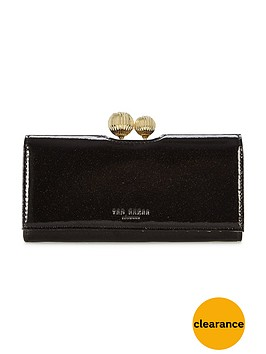 ted-baker-patent-glitter-matinee-purse-black