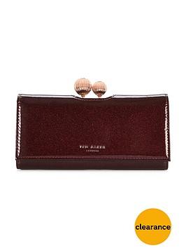 ted-baker-patent-glitter-matinee-purse-deep-purple