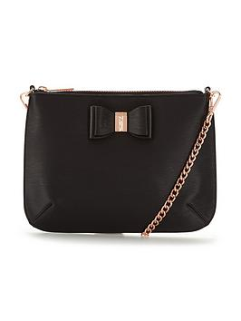 ted-baker-bow-shoulder-strap-clutch-black