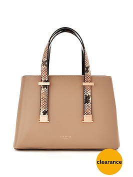 ted-baker-snake-trim-mini-tote