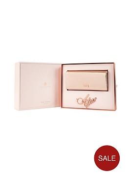 ted-baker-purse-amp-keyring-gift-set-rose-gold