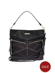 river-island-whipstitch-zip-tote-black
