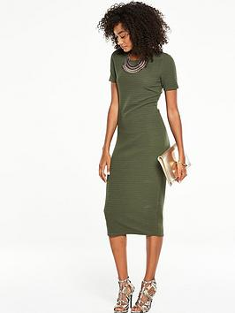 v-by-very-short-sleeve-textured-jersey-midi-dress