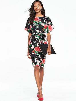 v-by-very-kimono-sleeve-printed-dress