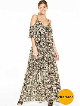 v-by-very-animal-cold-shoulder-printed-maxi-dress