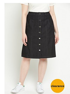 v-by-very-curve-button-front-denim-skirt