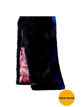 ted-baker-colourblock-faux-fur-scarf