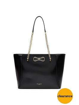 ted-baker-geometric-bow-leather-shopper