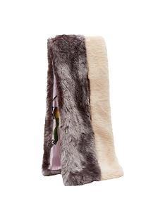 ted-baker-colourblock-faux-fur-scarf