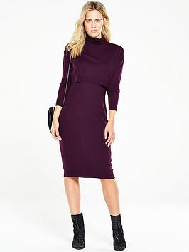 v-by-very-double-layer-knitted-midi-dress