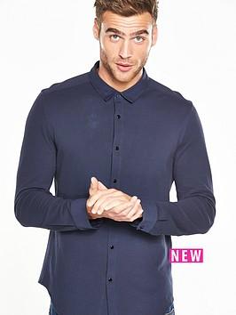 v-by-very-knit-fabric-shirt