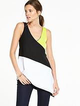 Colourblock Asymmetric Tunic