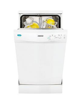 Zanussi ZDS12001W Slimline Freestanding Dishwasher - White